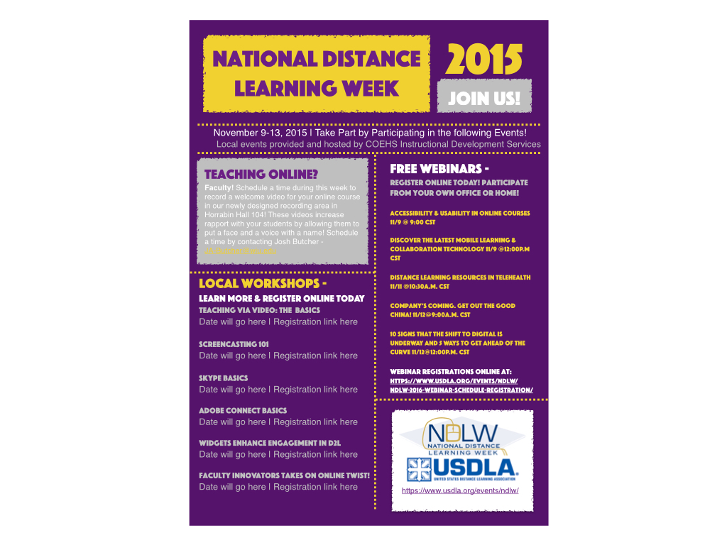 National Distance Learning Week Flyer